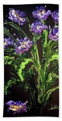 Spring Floral Hand Towel by Alan Lakin