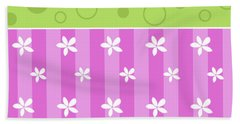 Spring Flower And Circles Background Hand Towel