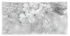 Hand Towel featuring the photograph Spring Flower Blossoms Soft Gray by Jennie Marie Schell