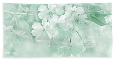 Hand Towel featuring the photograph Spring Flower Blossoms Teal by Jennie Marie Schell