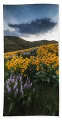 Balsamroot Explosion In Boise Idaho Usa Hand Towel