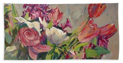 Spring Flowers Bouquet Hand Towel