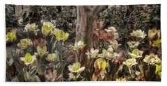 Hand Towel featuring the photograph Spring Flowers by Joann Vitali