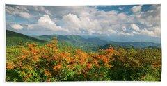 Spring Flowers North Carolina Flame Azalea Appalachian Trail Roan Mountain Hand Towel