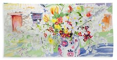 Spring Flowers On The Island Hand Towel