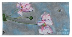 Bath Towel featuring the painting Spring Flowers  by Reina Resto