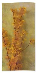 Spring Forsythia Bath Towel