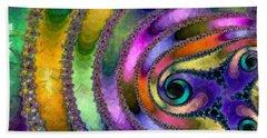 Hand Towel featuring the digital art Spring Garden Abstract by Maciek Froncisz