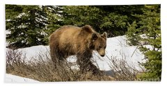Spring Grizzly Hand Towel