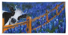 Hand Towel featuring the painting Spring Has Sprung by Jamie Frier