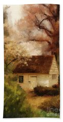 Hand Towel featuring the digital art Spring House In The Spring by Lois Bryan