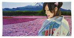 Spring In Japan Bath Towel
