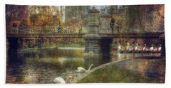 Spring In The Boston Public Garden Bath Towel by Joann Vitali