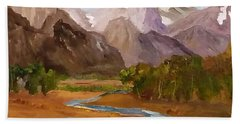 Spring In The Tetons Bath Towel