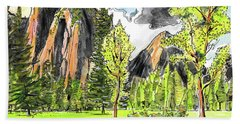Spring In Yosemite Hand Towel