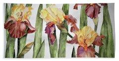Spring Iris Bath Towel