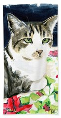 Spring Is In The Air - Cat Painting Bath Towel