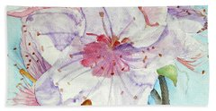 Bath Towel featuring the painting Spring by Jasna Dragun