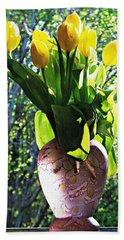 Hand Towel featuring the photograph Spring by Joy Nichols