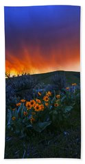 Spring Landscape In Boise Idaho Usa Hand Towel