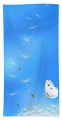 Bath Towel featuring the painting Spring Lightness by Veronica Minozzi