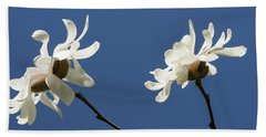 Spring Magnolias Bath Towel by Haleh Mahbod
