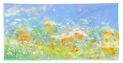 Spring Meadow Abstract Bath Towel by Menega Sabidussi