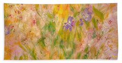 Spring Meadow Hand Towel by Claire Bull