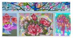 Bath Towel featuring the digital art Spring Medley by Eleni Mac Synodinos