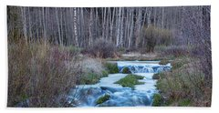 Spring Melt Off Flowing Down From Bonanza Bath Towel by James BO Insogna
