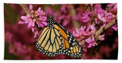 Spring Monarch Bath Towel by Living Color Photography Lorraine Lynch