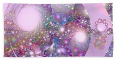 Spring Moon Bubble Fractal Hand Towel
