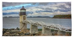 Hand Towel featuring the photograph Spring Morning At Marshall Point by Rick Berk