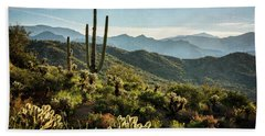Bath Towel featuring the photograph Spring Morning In The Sonoran  by Saija Lehtonen