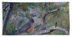 Spring Morning Robin Da Bath Towel