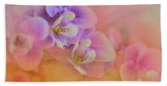 Spring Orchids Bath Towel