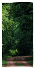 Hand Towel featuring the photograph Spring Path Of Light by Shelby Young