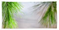 Bath Towel featuring the photograph Spring Pine Abstract by Christina Rollo
