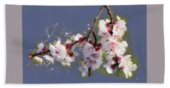 Spring Promise - Apricot Blossom Branch Hand Towel