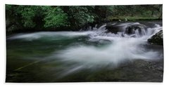 Hand Towel featuring the photograph Spring River by Mike Eingle