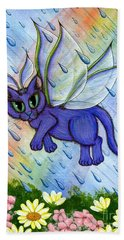 Spring Showers Fairy Cat Bath Towel