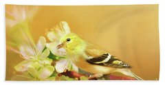 Hand Towel featuring the photograph Spring Song Bird by Darren Fisher