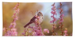 Bath Towel featuring the photograph Spring Sparrow by Lynn Bauer