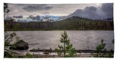 Bath Towel featuring the photograph Spring Storm At Round Lake by Cat Connor