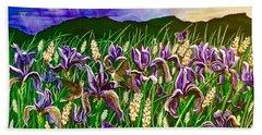 Spring Storm  Iris Fields Bath Towel