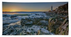 Hand Towel featuring the photograph Spring Sunrise At Portland Head by Rick Berk
