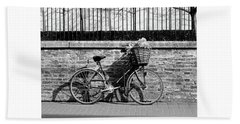 Hand Towel featuring the photograph Spring Sunshine And Shadows In Black And White by Gill Billington