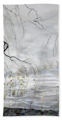 Spring Thaw On Misty Grenadier Pond Bath Towel