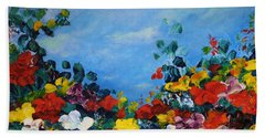 Bath Towel featuring the painting Spring Time by Teresa Wegrzyn
