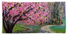 Spring Tree At New Pond Farm Hand Towel by Polly Castor